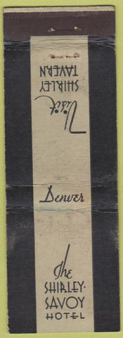 Matchbook Cover - Shirley Savoy Hotel Denver CO