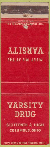 Matchbook Cover - Varsity Drug Columbus OH CREASED