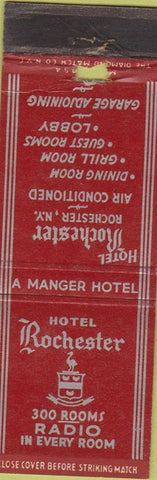 Matchbook Cover - hotel Rochester NY