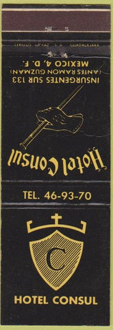 Matchbook Cover - Hotel Consul Mexico