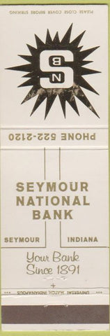 Matchbook Cover - Seymour National Bank IN
