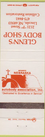 Matchbook Cover - Glenn's Body Shop Lincoln NE