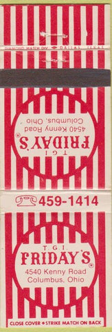 Matchbook Cover - TGI Friday's Columbus OH