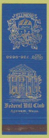 Matchbook Cover - Federal Hill Club Agawam MA