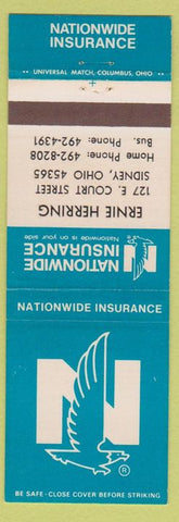 Matchbook Cover - Nationwide Insurance Sidney OH Ernie Herring