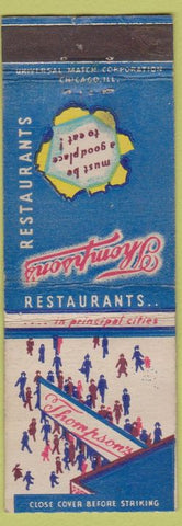 Matchbook Cover - Thompson's Restaurantsx