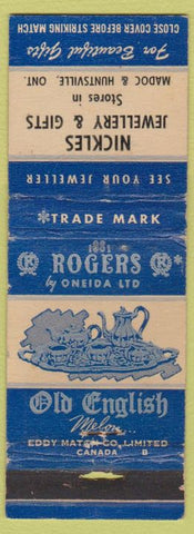 Matchbook Cover - Old English Oneida Tea Set Madoc Huntsville ON WEAR