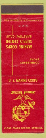 Matchbook Cover - US Marine Corps Barstow CA WEAR