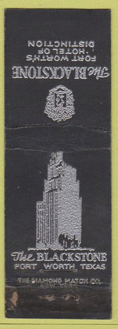 Matchbook Cover - The Blackstone Hotel Fort Worth TX