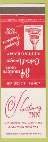 Matchbook Cover - Northway Inn Albany NY