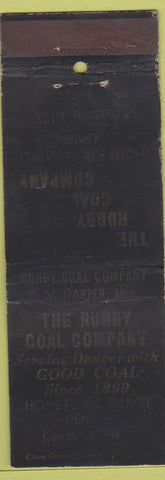 Matchbook Cover - Rugby Coal Co Denver CO WEAR