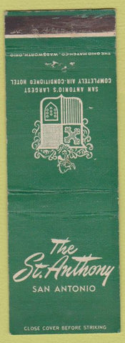 Matchbook Cover - St Anthony Hotel San Antonio TX