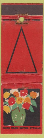 Matchbook Cover - Lion Match Flowers in Vase