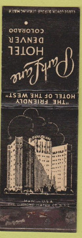 Matchbook Cover - Park Lane Hotel Denver CO