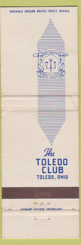 Matchbook Cover - The Toledo Club OH
