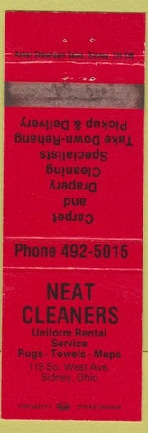 Matchbook Cover - Neat Cleaners Sidney OH
