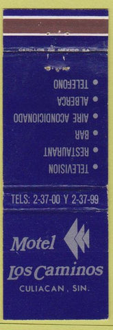 Matchbook Cover - Motel Los Caminos Culiacan Mexico