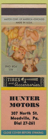 Matchbook Cover - Hunter Motors Meadville PA SAMPLE