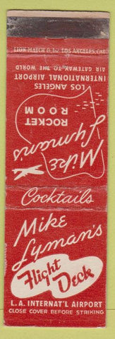 Matchbook Cover - Mike Lyman's Flight Deck Los Angeles CA Airport WEAR