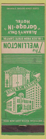 Matchbook Cover - The Wellington Hotel Albany NY