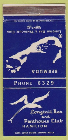Matchbook Cover - Longtail Bar Penthouse Club Hamilton Bermuda 30 STrike