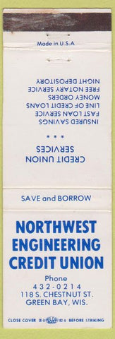 Matchbook Cover - Northwest Engineering Credit Union Green Bay WI