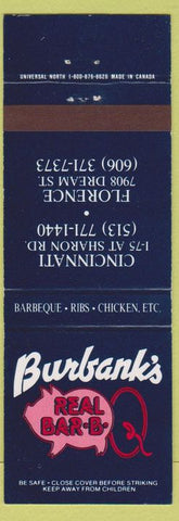 Matchbook Cover - Burbank's Real BBQ Florence Cincinnati OH