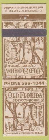 Matchbook Cover - Old Florida Seafood House Fort Lauderdale FL