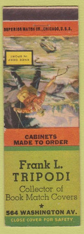 Matchbook Cover - Frank Tripodi Match Collector Cabinets