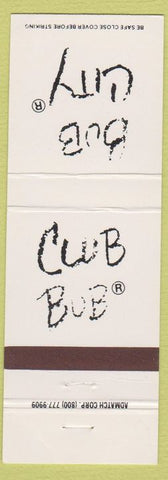 Matchbook Cover - Club Bub Chicago IL BBQ