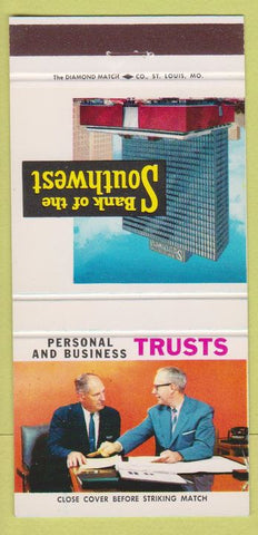 Matchbook Cover - Bank of the Southwest Houston TX 30 Strike