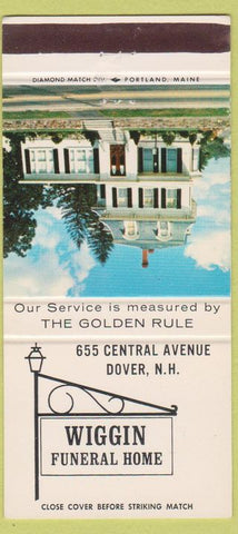 Matchbook Cover - Wiggin Funeral Home Dover NH 30 Strike