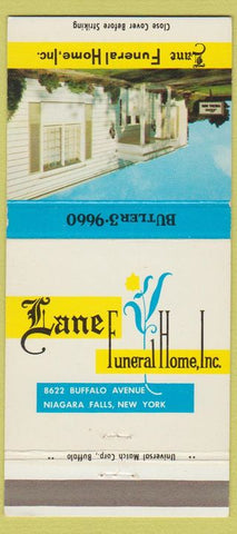 Matchbook Cover - Lane Funeral Home Niagara Falls NY 30 Strike
