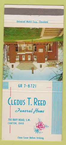 Matchbook Cover - Cledus T Reed Funeral Home Canton OH 30 Strike