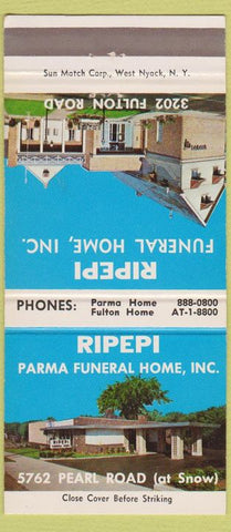 Matchbook Cover - Ripepi Funeral Home Cleveland OH 30 Strike