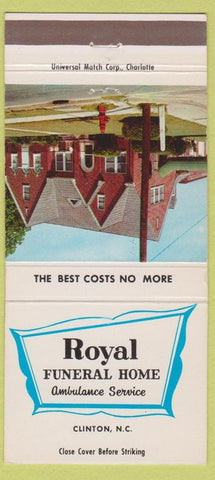 Matchbook Cover - Royal Funeral Home Clinton NC 30 Strike