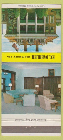 Matchbook Cover - FC Daehler Funeral Home Portsmouth OH 30 Strike