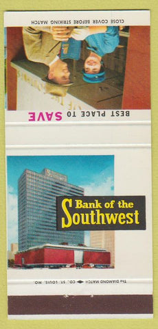 Matchbook Cover - Bank of the Southwest Houston TX girlie 30 Strike