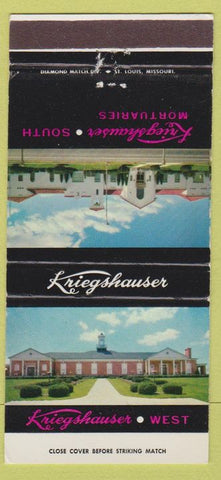 Matchbook Cover - Kriegshauser Funeral Home ST Louis MO 30 Strike
