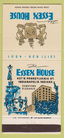 Matchbook Cover - Essex House Indianapolis IN 30 Strike