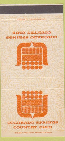 Matchbook Cover - Colorado Springs CO Country Club 30 Strike