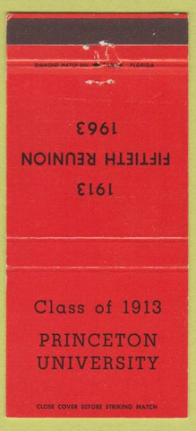 Matchbook Cover - Princeton NJ College 1913 Class Renuion 1963 30 Strike