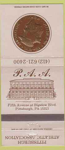 Matchbook Cover - Pittsburgh PA Athletic Club 30 Strike