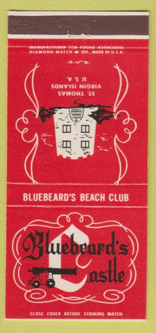 Matchbook Cover - Bluebeard's Castle ST Thomas Virgin Islands 30 Strike