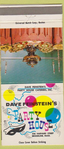 Matchbook Cover - Dave Feinstein's Party House Brookline MA girlie 30 Strike