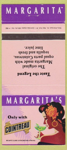 Matchbook Cover - Margarita Cointreau Liquor girlie  30 Strike
