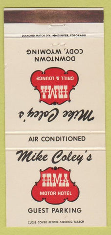 Matchbook Cover - Mike Coley's Motor Hotel Cody WY 30 Strike
