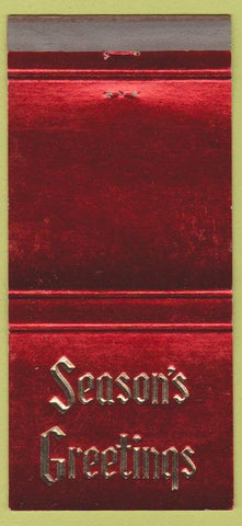 Matchbook Cover - First National Bank of Amarillo TX Christmas 30 Strike