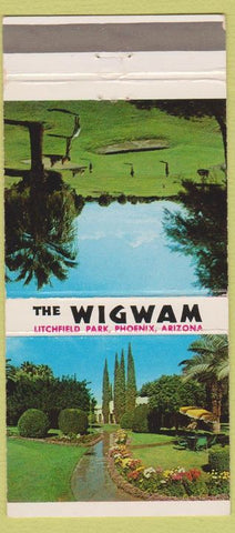 Matchbook Cover - The Wigwam Litchfield Park Phoenix AZ 30 Strike