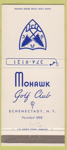 Matchbook Cover - Mohawk Golf Club Schenectady NY 30 Strike